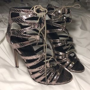 Topshop Shoes - NWOT LACE UP TOPSHOP HEELS