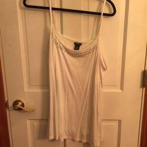 White embellished cami