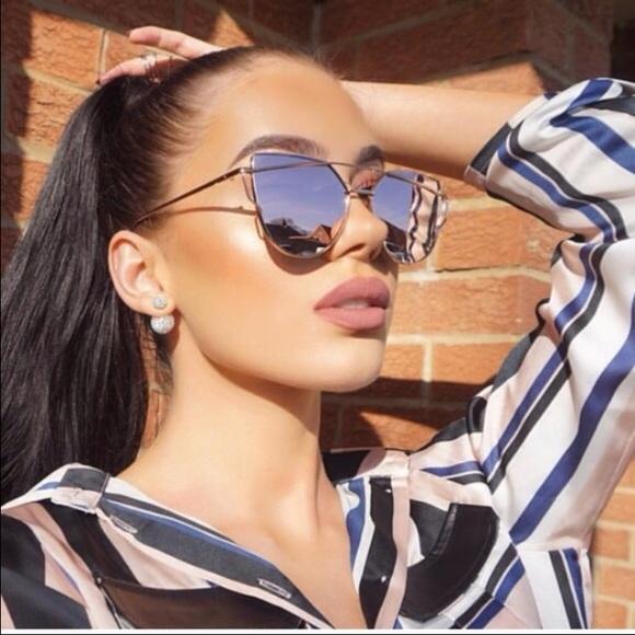 28512c6591fb Accessories - Silver Mirrored Cat-Eye Sunglasses