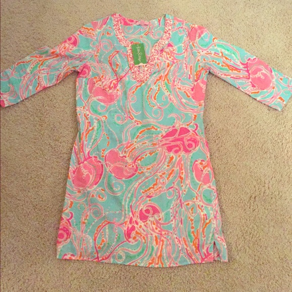 a24611bbe32c53 Lilly Pulitzer Dresses | Jellies Be Jammin Courtney Tunic Dress ...