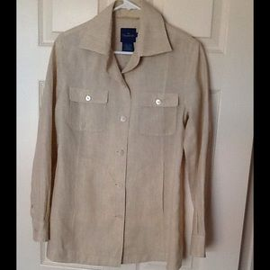 Faconnable %100 Linen jacket size XS