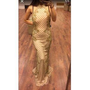 Camilla Dresses & Skirts - Prom dress gold beaded dress