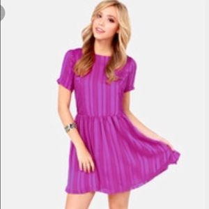 Lucca Couture Dresses & Skirts - Magenta Lucca Couture open-back mini dress