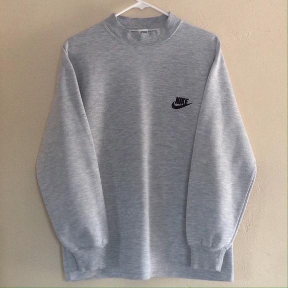 78cbf1c24df0a 80's Nike Sweatshirt Cuffed Long Sleeve Crewneck