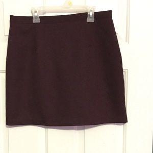 Maroon/Wine-Colored Mini Skirt
