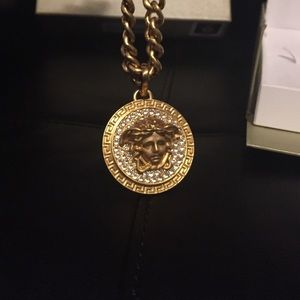 Womens versace necklace medusa on poshmark versace large medusa chain mozeypictures Image collections