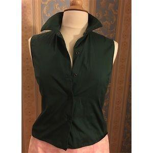 Miu Miu Tops - A sleeveless snap-button shirt.