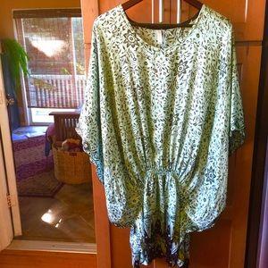 Bu Tiki Tops - Hawaiian designer Bu Tiki silk caftan