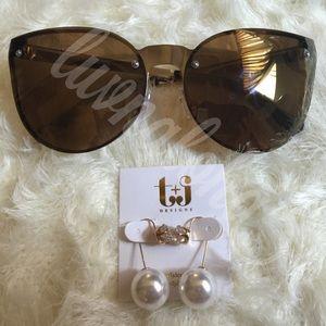 T&J Designs Jewelry - Crystal Thread Pearl Earrings