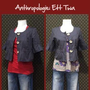"""Anthro """"Cropped Sateen Jacket"""" by Ett Twa"""