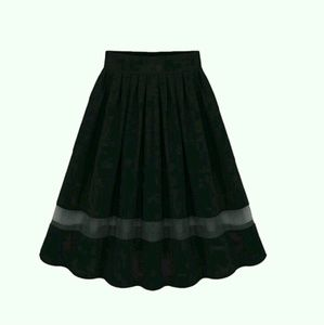 Dresses & Skirts - Chiffon Elastic Waist Flared Pleated Skirt