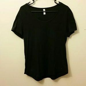 7d958a8eeda5e American Apparel Tops - American Apparel Power Wash U-Neck T-shirt