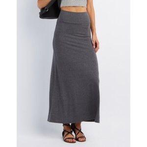 Dresses & Skirts - ❤Foldover skirt in Grey