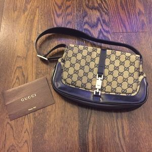 Gucci black monogram canvas purse 001 3824 3754