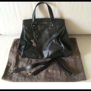 Celine Orlov bag in beautiful black leather.