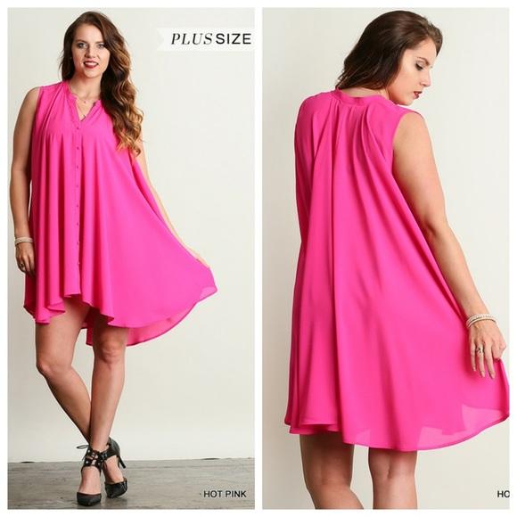 Southern Charm Boutique Dresses Salehp Pink Plus Size Trapeze