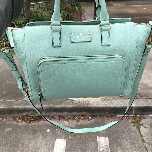 30% off kate spade Handbags - Mint green blue cross body Kate ...