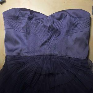 BCBGMaxAzria Dresses - Bcbg maxazria purple strapless cocktail dress