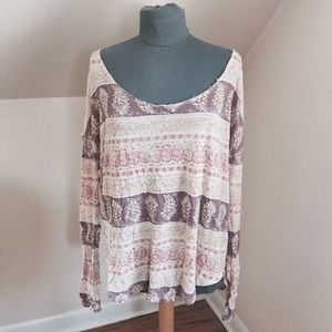 Free People Off The Shoulder Shirt - Size L