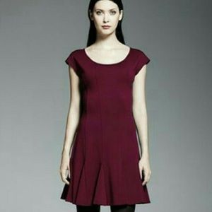 CATHERINE MALANDRINO dress, burgundy, size 0