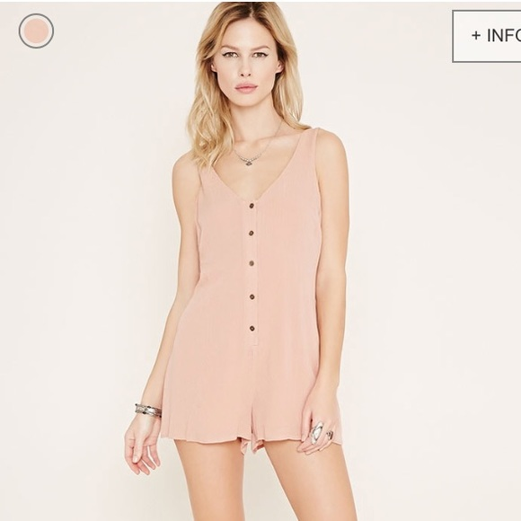 Forever 21 Pants - Forever 21 Dusty Pink Romper