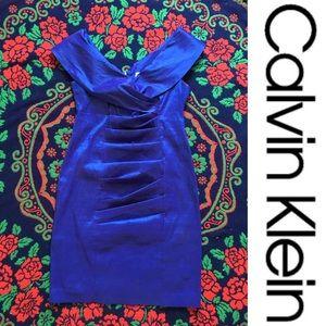 Cobalt Blue Sheath Dress - Calvin Klein