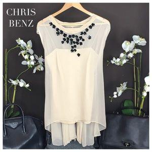 Chris Benz Tops - CHRIS BENZ EMBELLISHED TOP