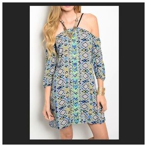 Open shoulder summer dress