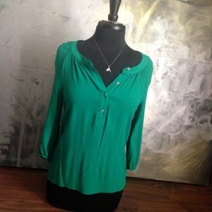 Banana Republic Kelly Green Viscose blouse S
