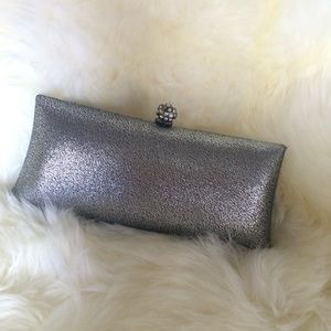 ASOS Handbags - Metallic silver party clutch