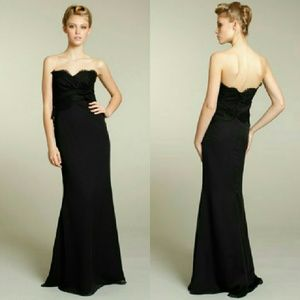 Alvina Valenta Dresses & Skirts - Alvina Valenta Noir Black Chiffon Lace Dress 9170