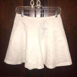 J. Crew A-line Skirt in White with Pockets!