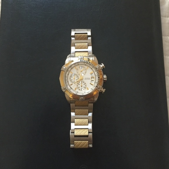 90% off Guess Other - Mens Guess Watch - gold and silver ...