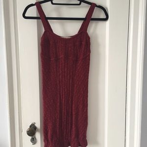 Free people knit red bodycon mini dress