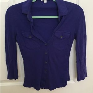 "James Perse Tops - James Perse ""Standard"" button-down top - size 1"
