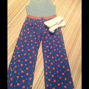 Other - Supergirl pajama bottoms size large