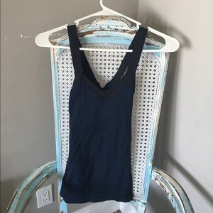 Lululemon navy/black workout tank top
