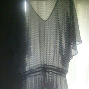 Stunning sheer chevron tunic