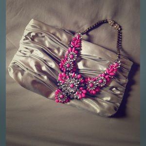 Elizabeth Arden Handbags - Bright Sterling Silver Clutch 💗