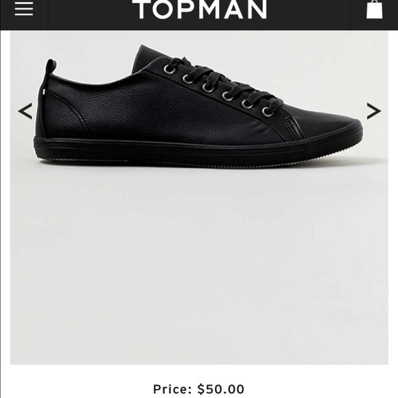 Topshop Shoes   Topshop Black Plimsolls