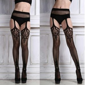 Other - *!* Illusion Garter Tights *!* Max sz 14/16