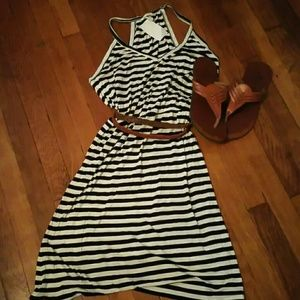 H&M Black and White Racer Back tank dress