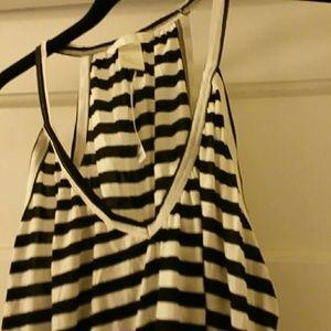 H&M Dresses - H&M Black and White Racer Back tank dress