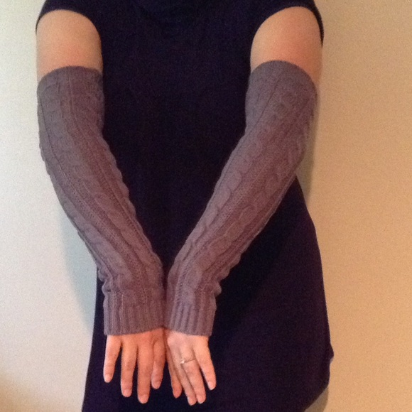 Long Arm Warmers Knitting Pattern : Boutique - Cable knit long arm warmers from Jacquelyns closet on Poshmark