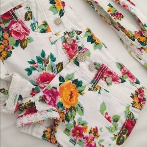 HP Nordstrom Floral Shorts w/ Suspenders