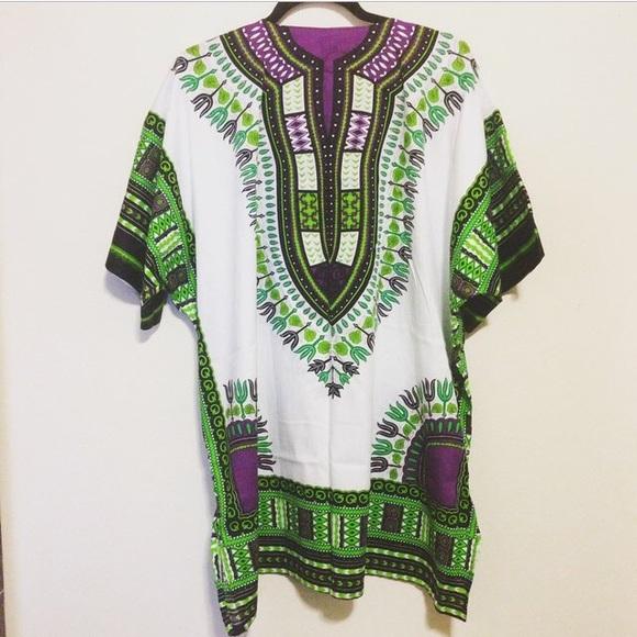 Dashiki Dresses & Skirts - New Tribal Print Dashiki Dress Top