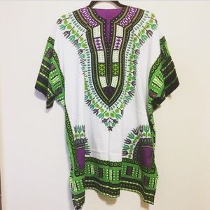 New Tribal Print Dashiki Dress Top