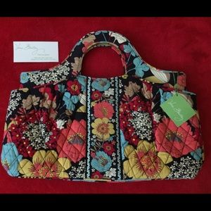 Vera Bradley floral satchel closing closet sale