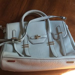 Rebecca Minkoff Jules Satchel ice mint leather