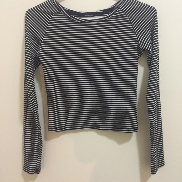 229ca2c8855 Brandy Melville Tops - Brandy Melville navy and white stripe long sleeve